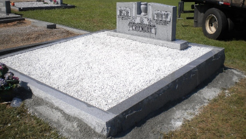 granite memorial installation